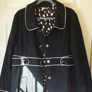 APT. 9 Black and White Pea Coat